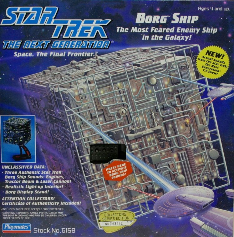 Playmates Star Trek The Next Generation Borg Cube
